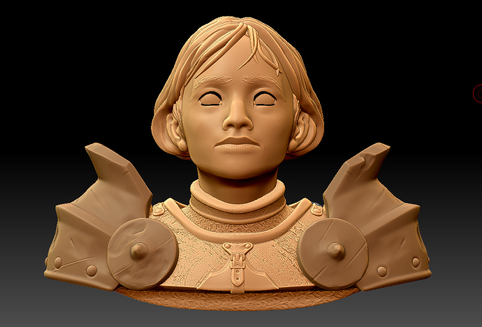 Joan of Arc bust – 3D model