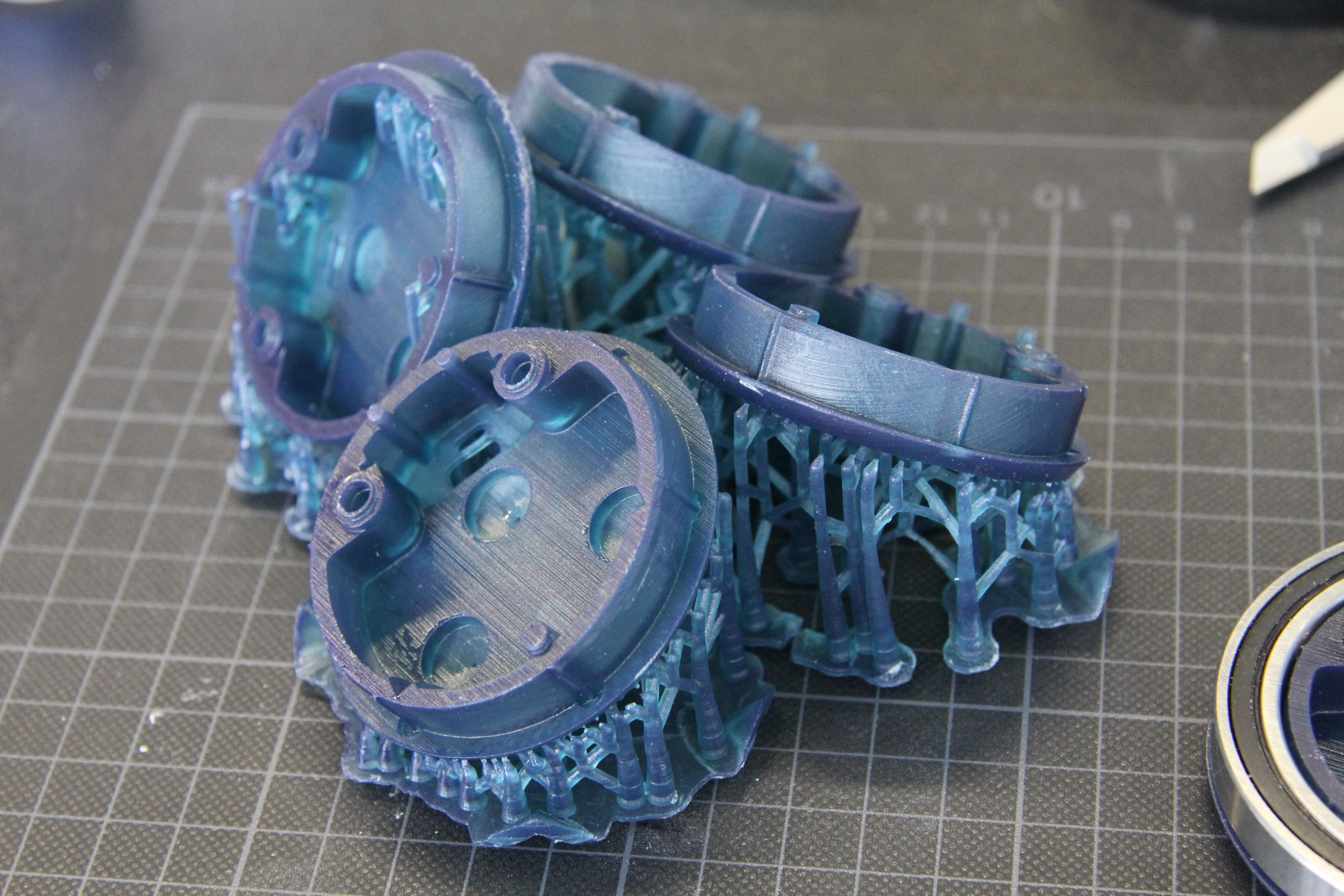 3D printing with tough resin