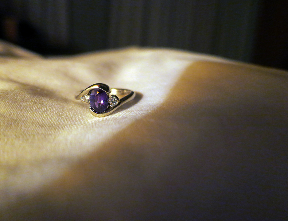 Nadia's engagement ring alexandrite