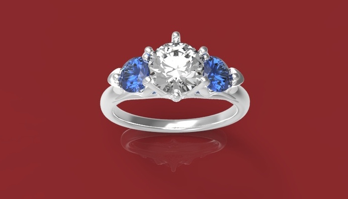 Rendering of engagement ring designed by Richard Arena