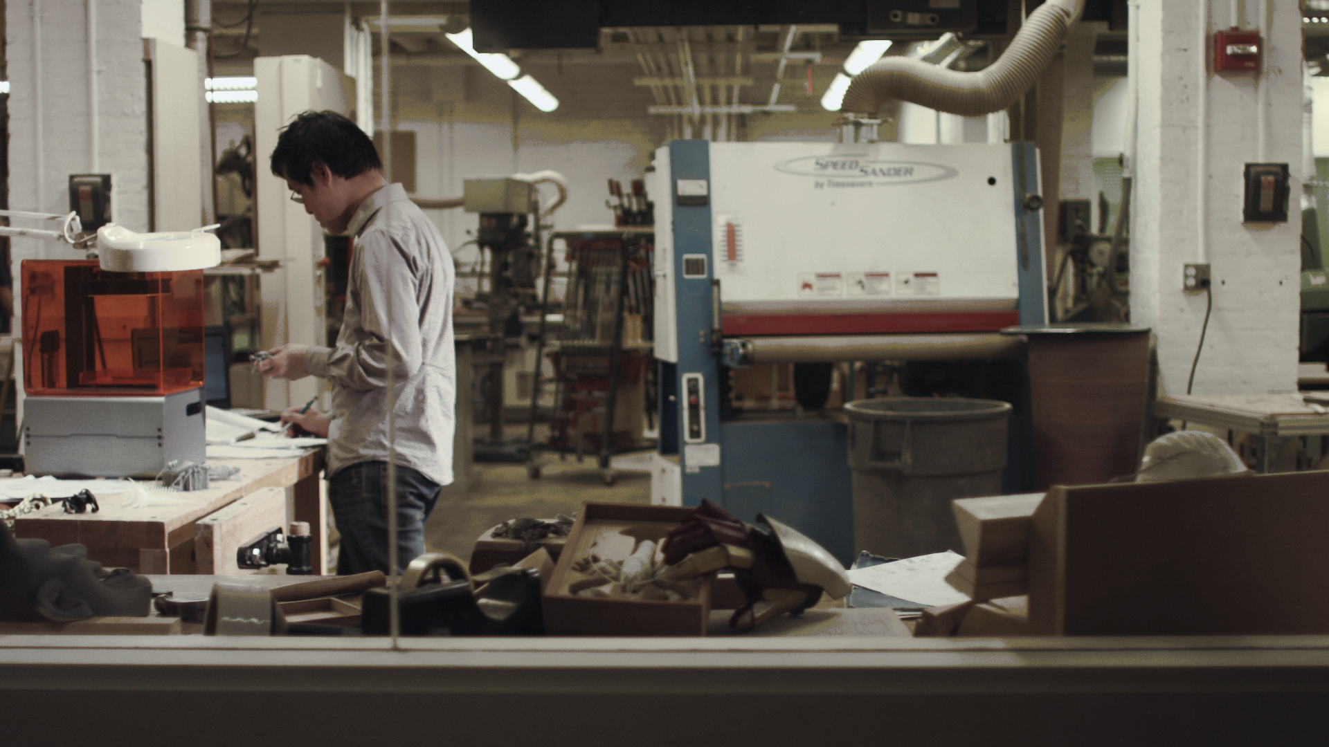 MIT Craftsman: An MIT alum, Brian hones his skills at the MIT Hobby Shop.