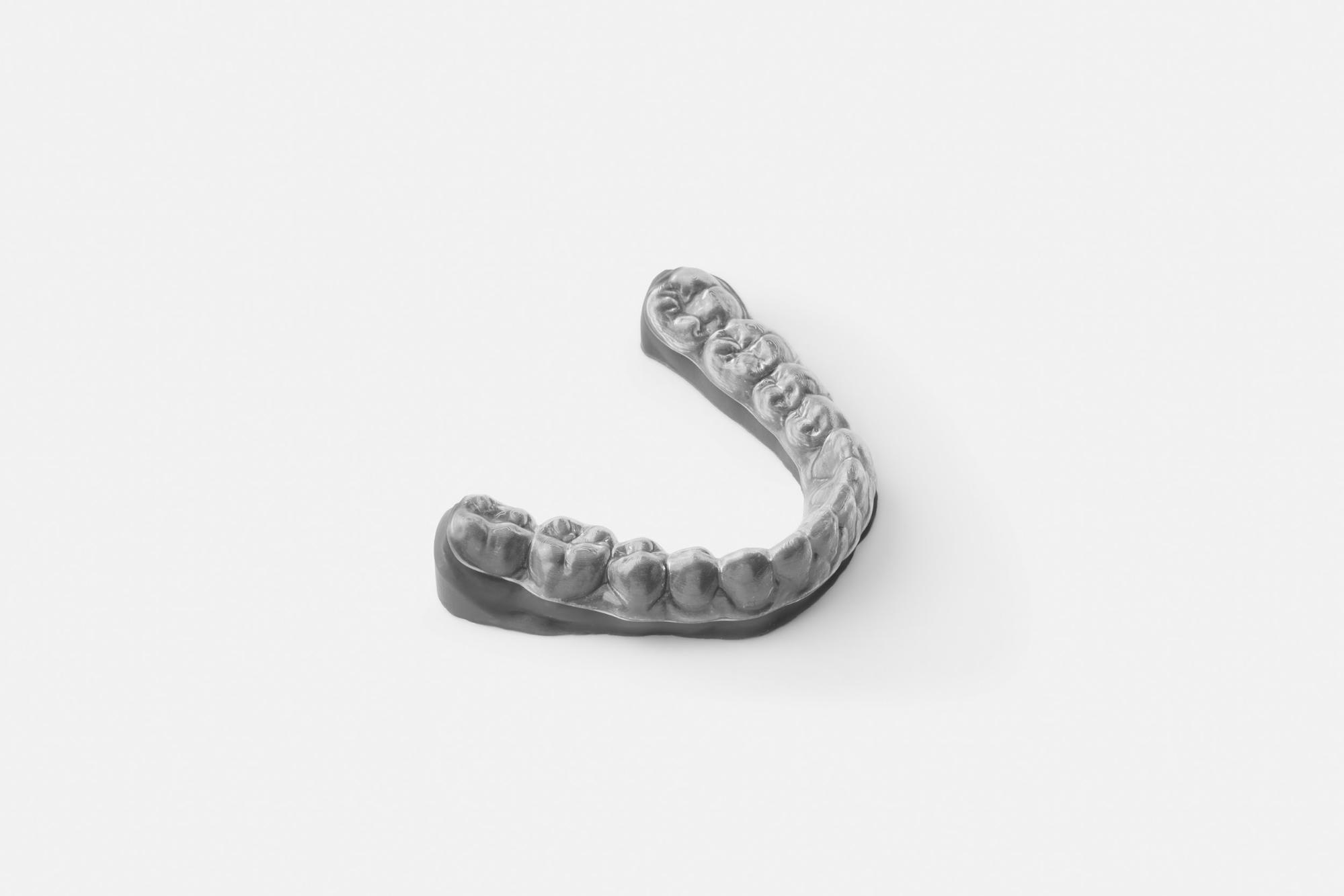 Thermoforming over 3D printed models is one of the most common ways to produce dental clear aligners today.