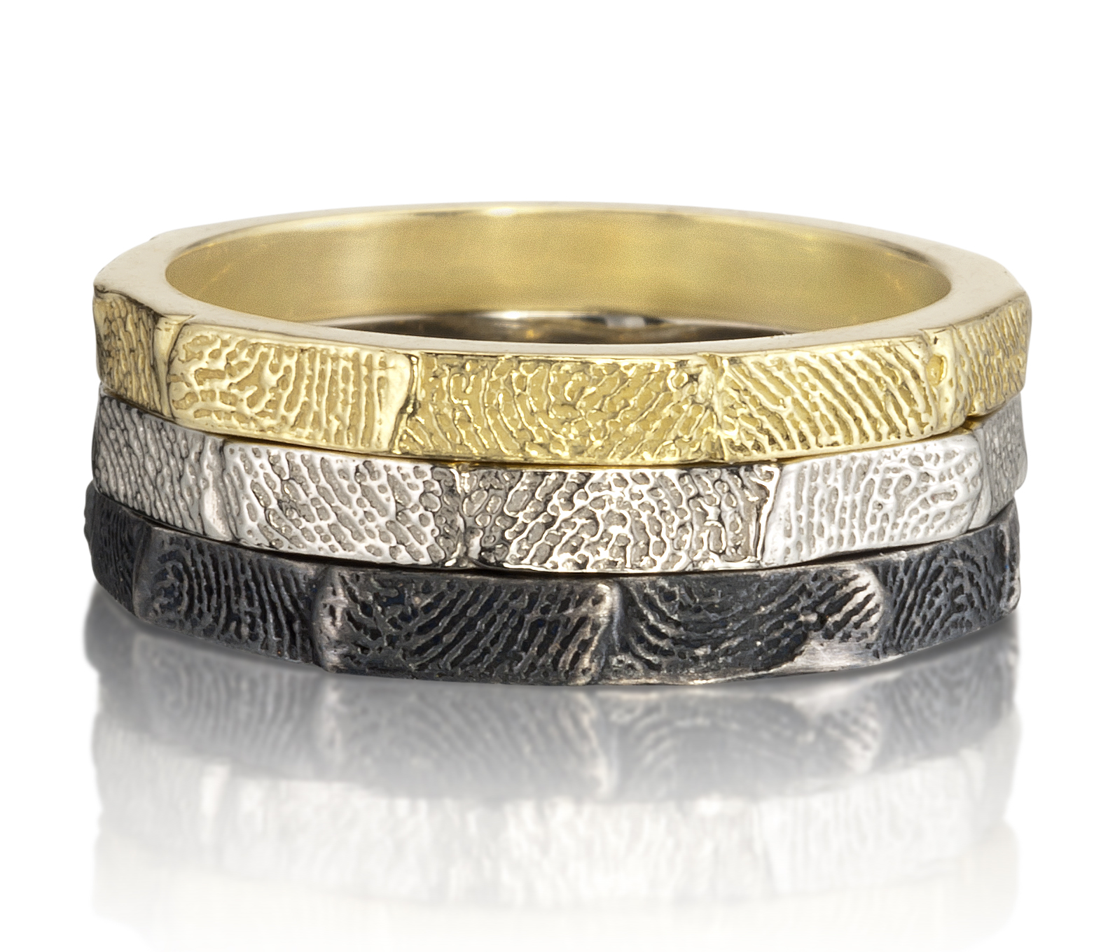 Fingerprint Stacking Rings Sarah Graham