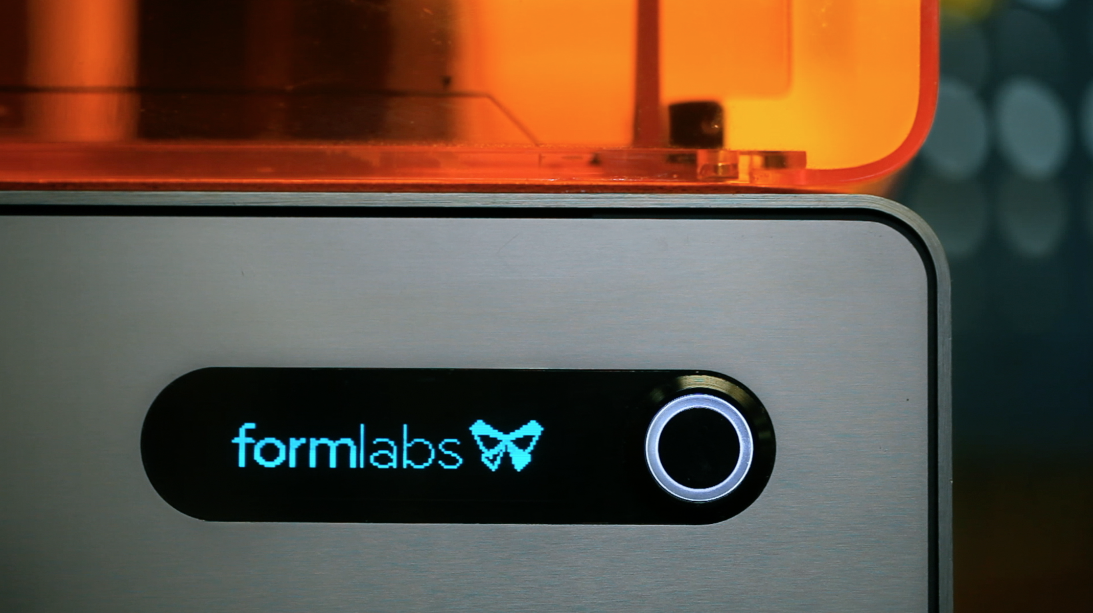 Formlabs Logo on 3D Printer