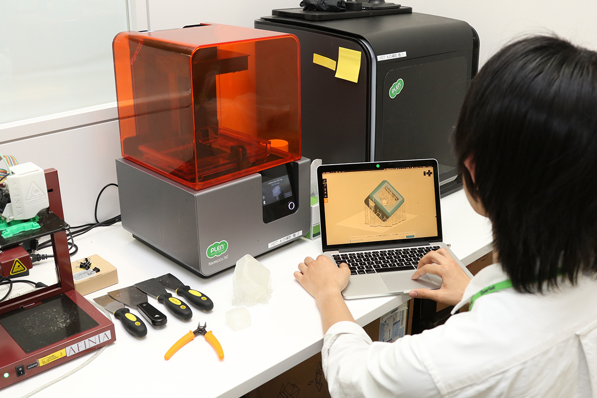 Form 2 3D Printer being used for PLEN Cube Prototype