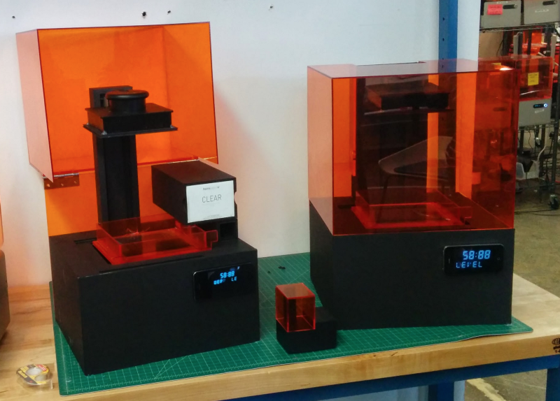 Looks-like prototypes of the [Form 2 SLA 3D printer](/3d-printers/form-2/) with different solutions for cartridge placement.