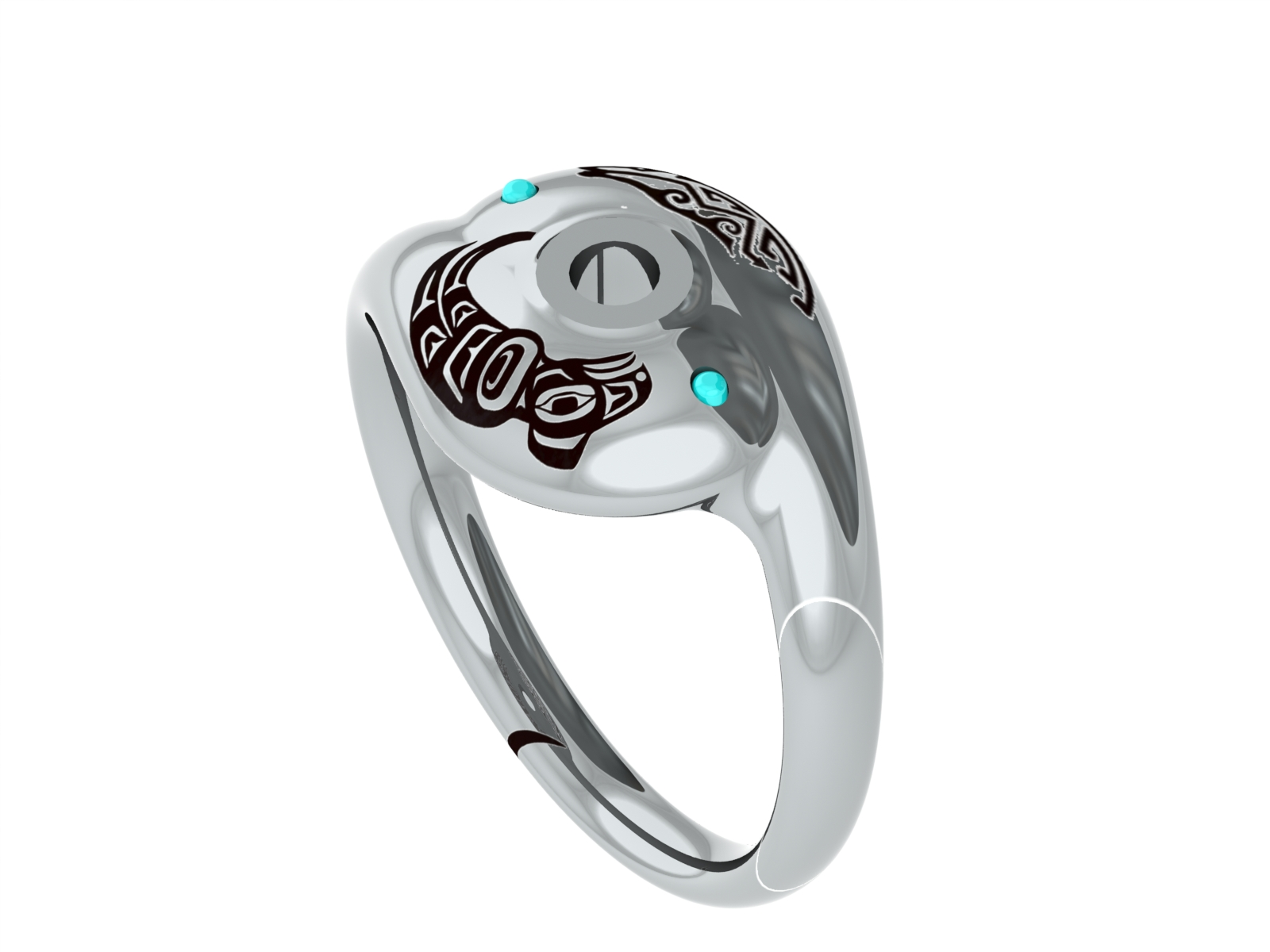 Final rendering of a ring to be 3D printed