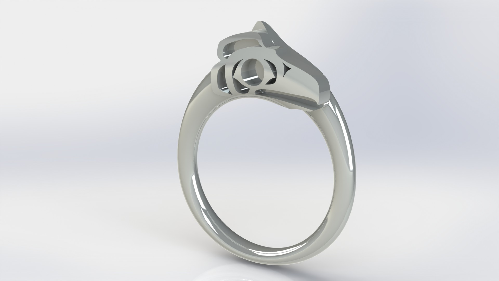 Rendering of custom engagement ring