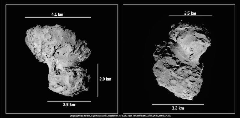 Rosetta mission comet
