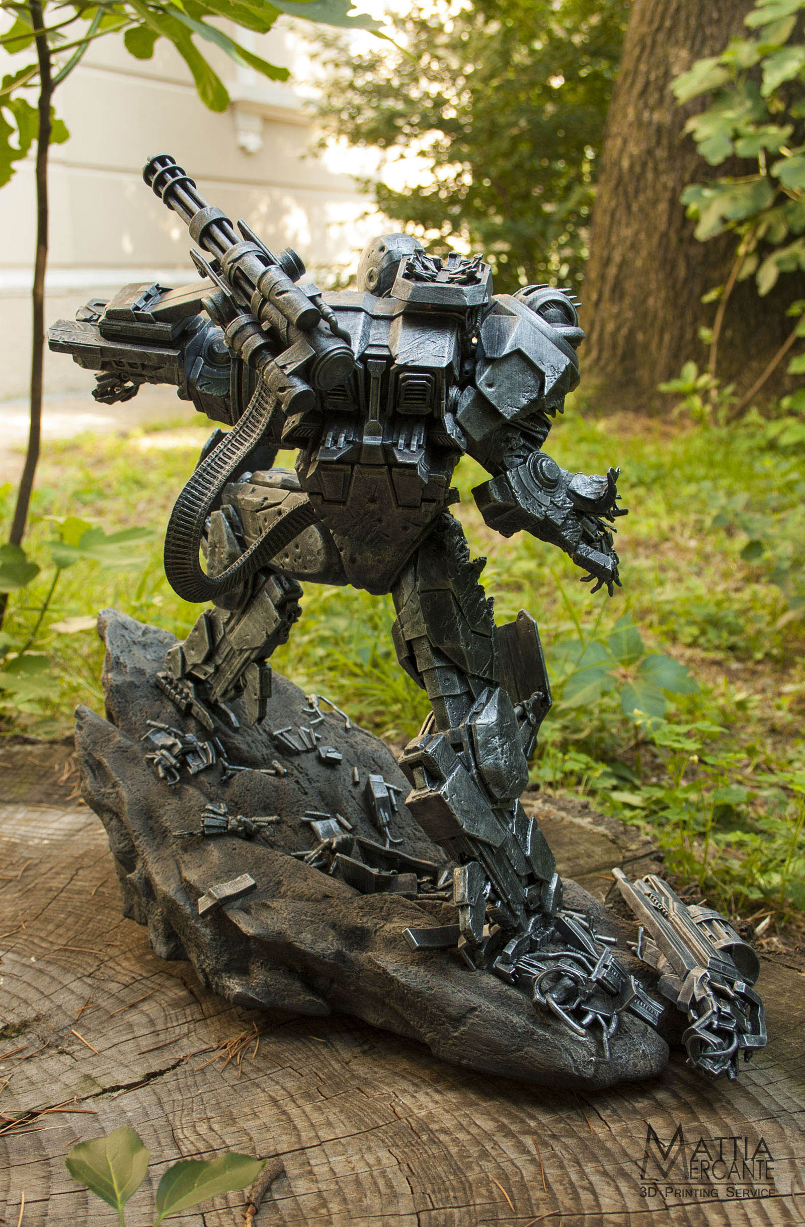 War Machine 3D printed by Mattia Mercante on the Form 1+ 3D printer back view