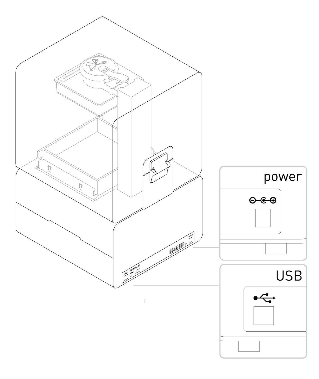 Connecting the printer to power