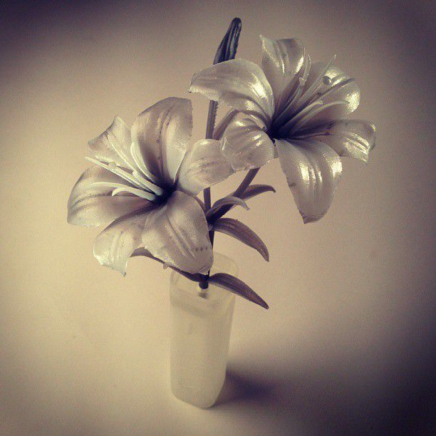 3D printed flowers by Will Walker