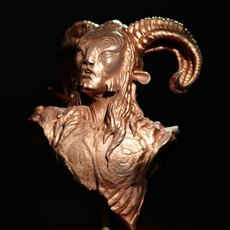 Faun: Modeled, printed, and finished by Robert Vignone