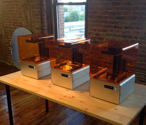 3 Form 1 stereolithography 3D printers