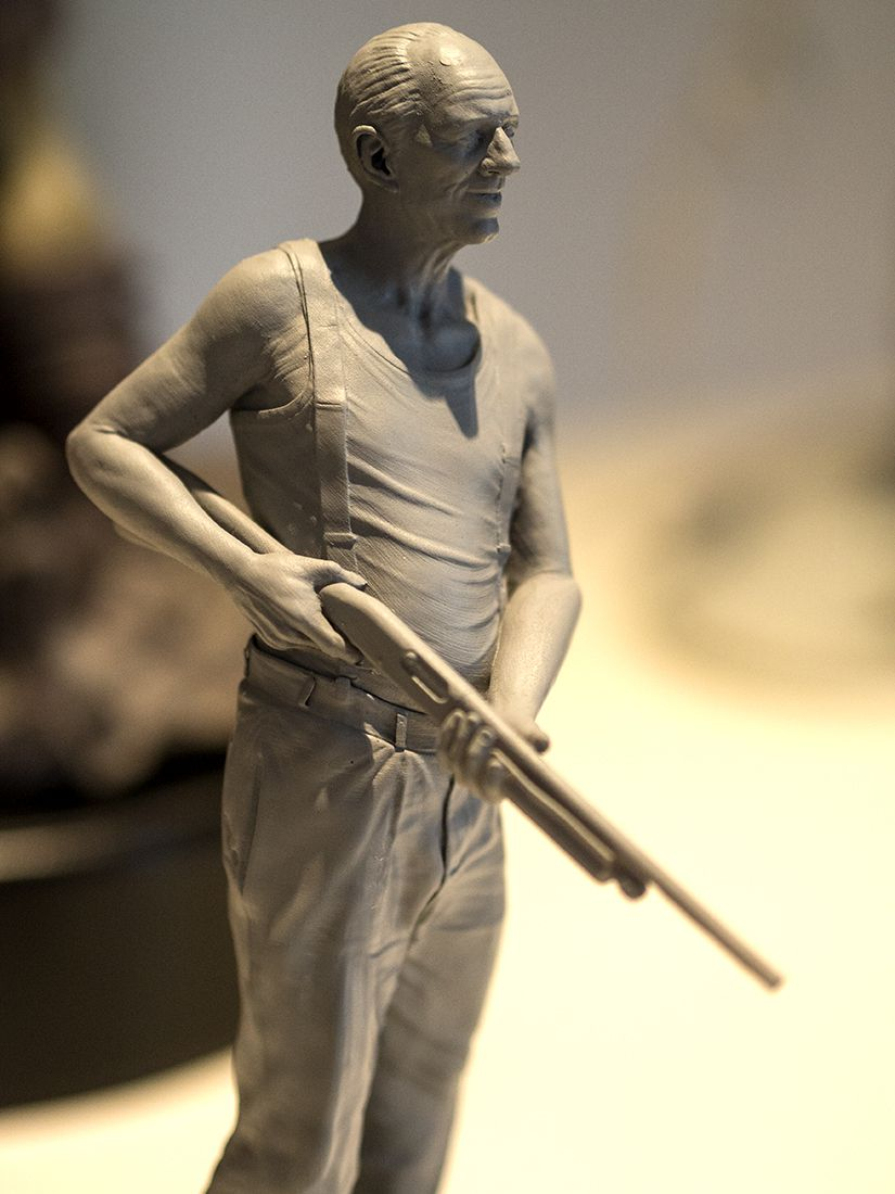 Get off my Yard!: Character Model by Matheui Aerni, printed by Mold 3D and showcased at the Character Artist Exhbit in Burbank CA.