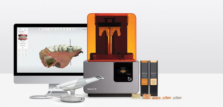 3Shape's TRIOS intraoral scanner and Implant Studio dental CAD software and the Form 2 stereolithography (SLA) 3D printer make cost-effective in-office surgical guides a reality.