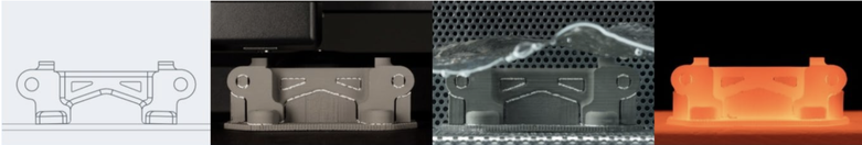 Desktop Metal's Studio System works similarly to FDM, but uses composite materials made from metal powder bound in a plastic matrix. After printing, the parts are cleaned and sintered in a furnace to remove the binder and fuse the metal powder into solid metal parts. Image: Desktop Metal.