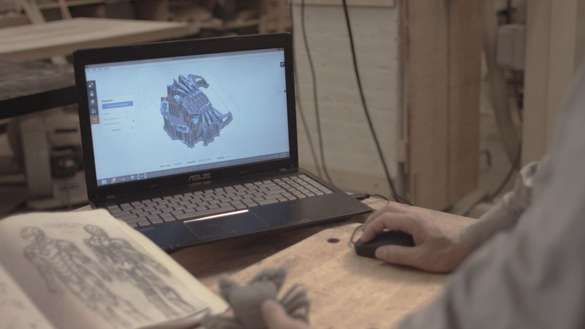 Drawing from technology: CAD is one of Brian's artistic tools.