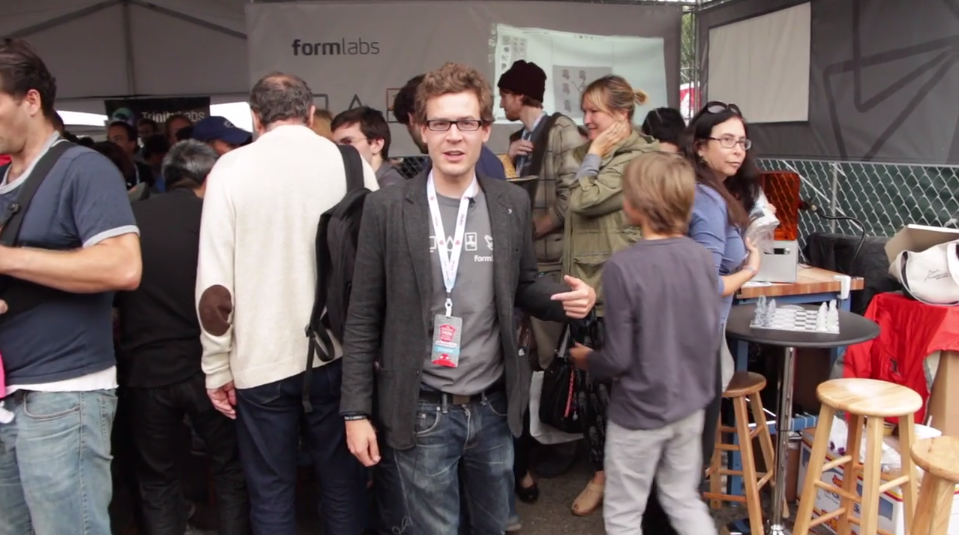 Formlabs founder David Cranor at Maker Faire