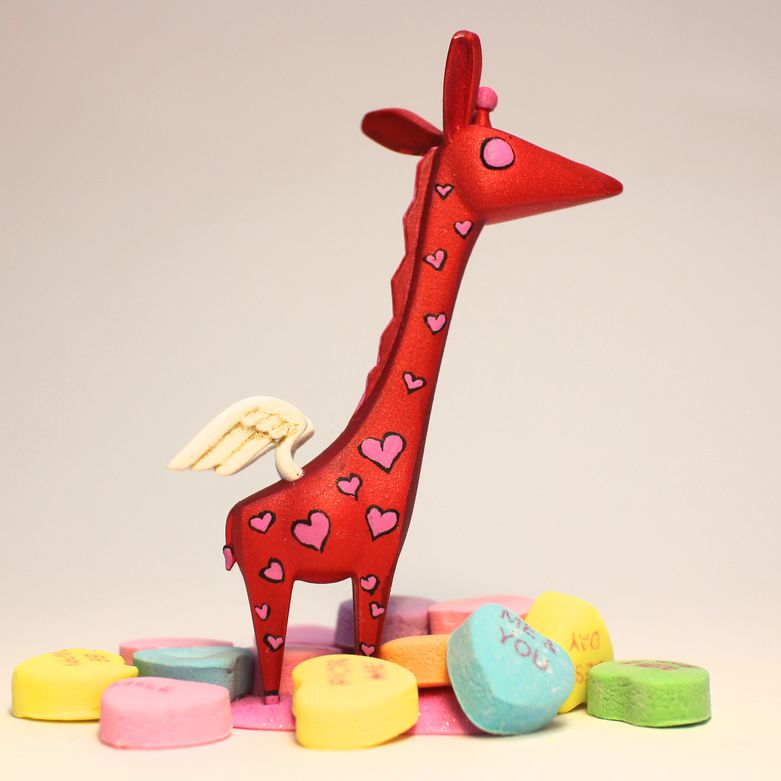 RawrzToys giraffe with Form 1 printed wings