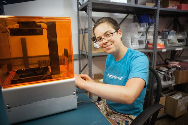 Formlabs engineering intern Sarah Schade