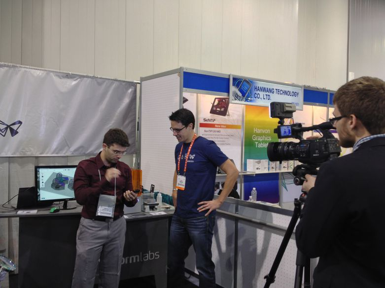 Luke from Formlabs at CES 2013