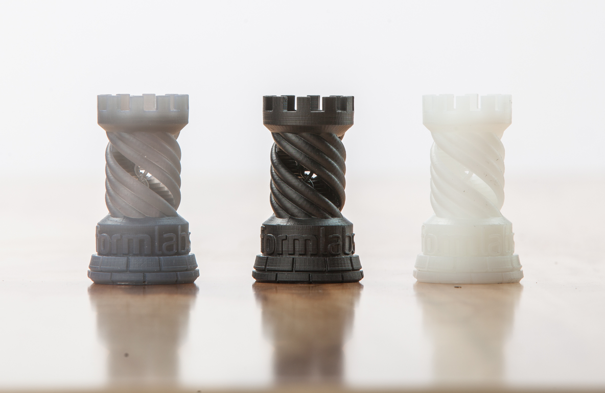 new Formlabs sample part: twisted rook