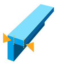 Max unsupported overhang length