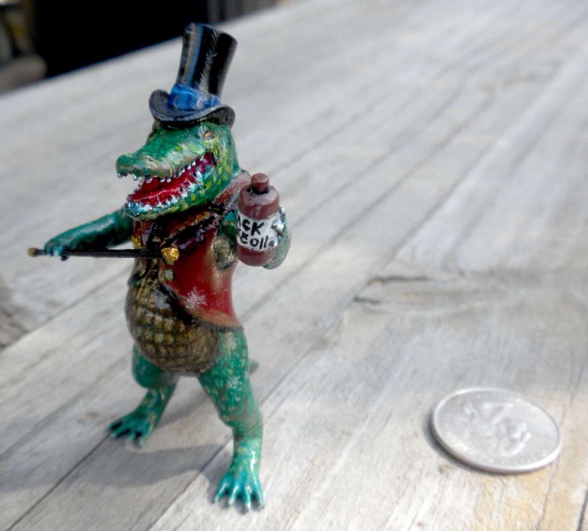 3D printed and painted Glib Alligator by Shane