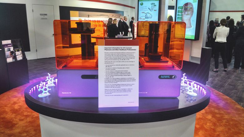 Radius Digital Science trade show display with Form 1+ 3D printers