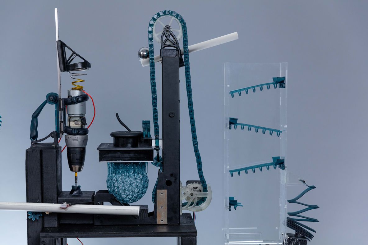 rube goldberg machine 3D printed with Tough Resin