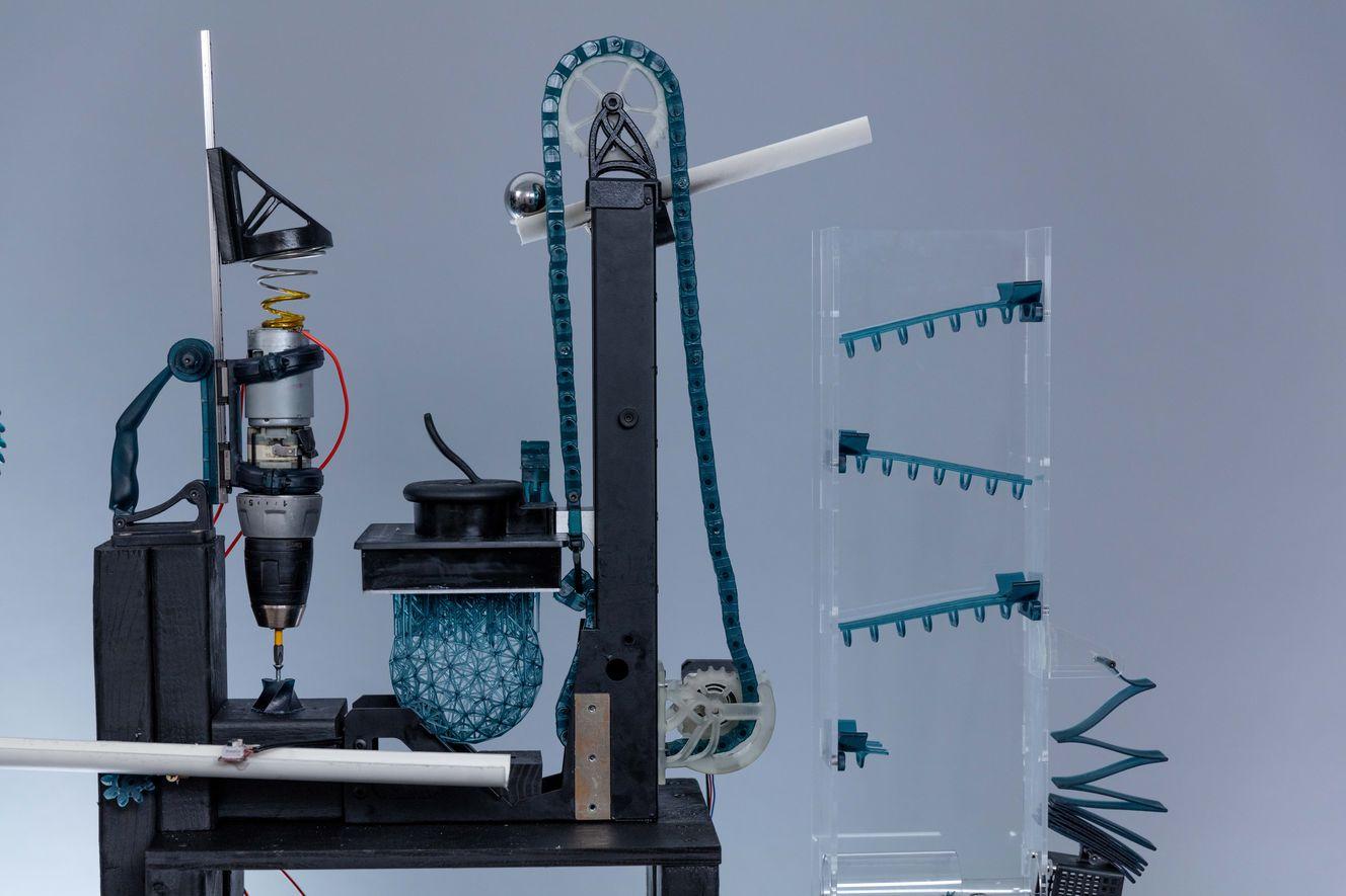 Rube Goldberg Machine Printed With Tough Resin