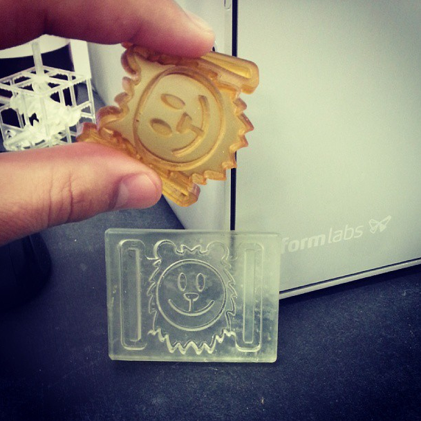 Sivan's Bravery Medal: Sivan's bravery medal, instagram photo from trade show. Silicone mold.