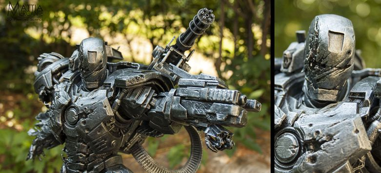 Close up view of War Machine 3D printed by Mattia Mercante on the Form 1+ 3D printer