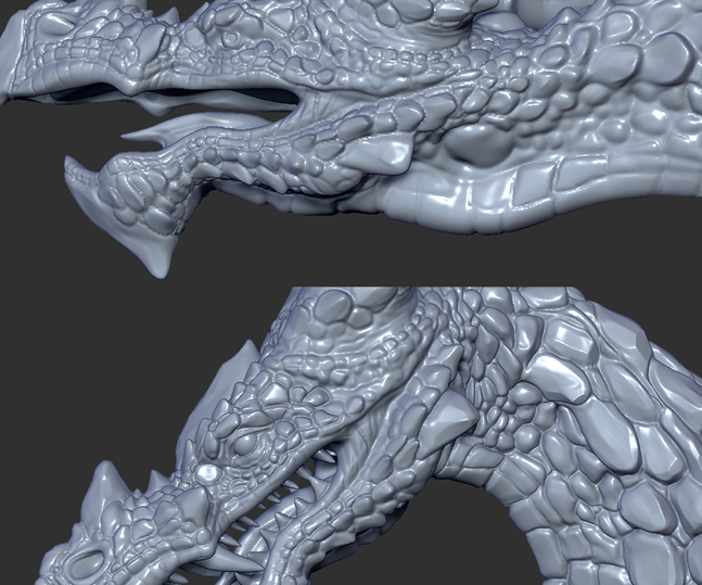Close up view of Dragon Bust