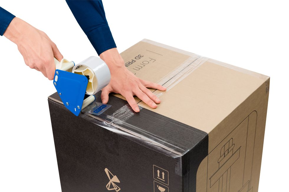 seal up and close the box with packing tape
