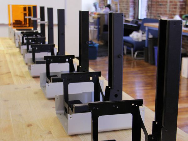 beta Form 1 3D printers being built