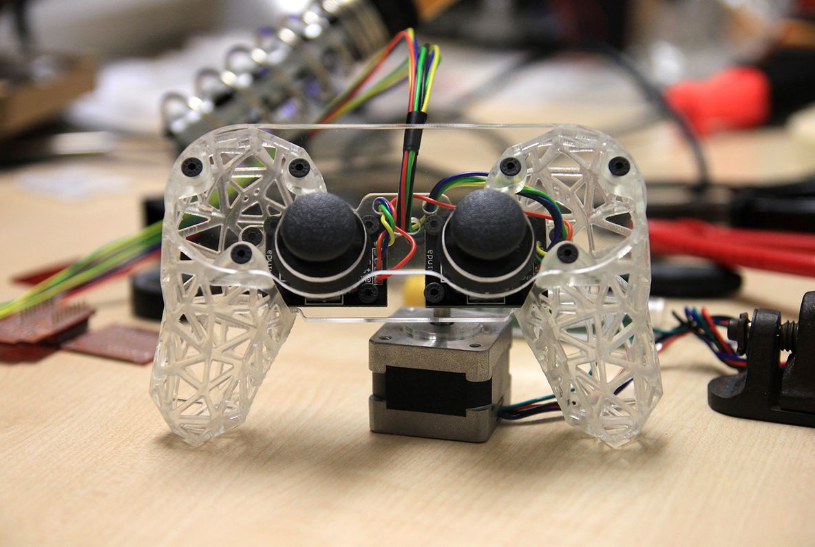 3D printed game controller by Andrew Guscott