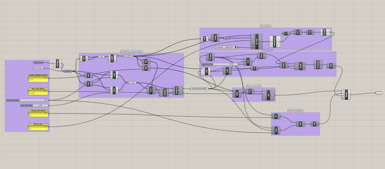 This node tree parametrically creates connector modules from an input STL.