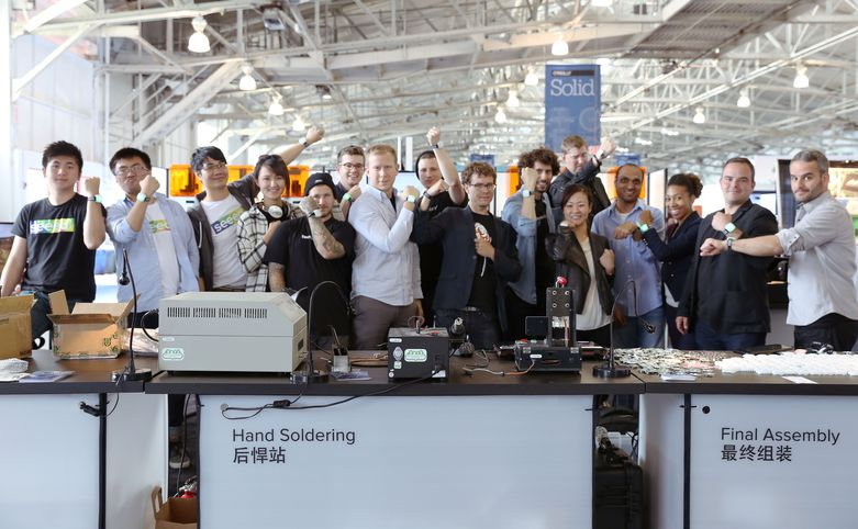 The team at Solid Conference's Pop Up Factory