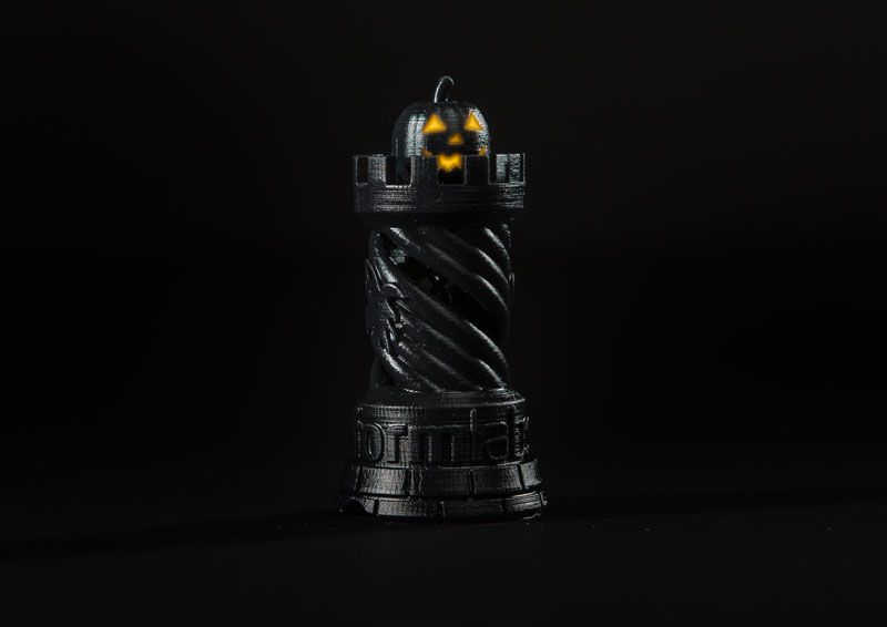 Formlabs rook Halloween edition with pumpkin
