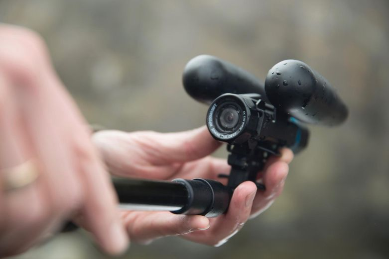 The detachable third-person viewer for the camera, which floats behind the diver. Printed on the Form 2.