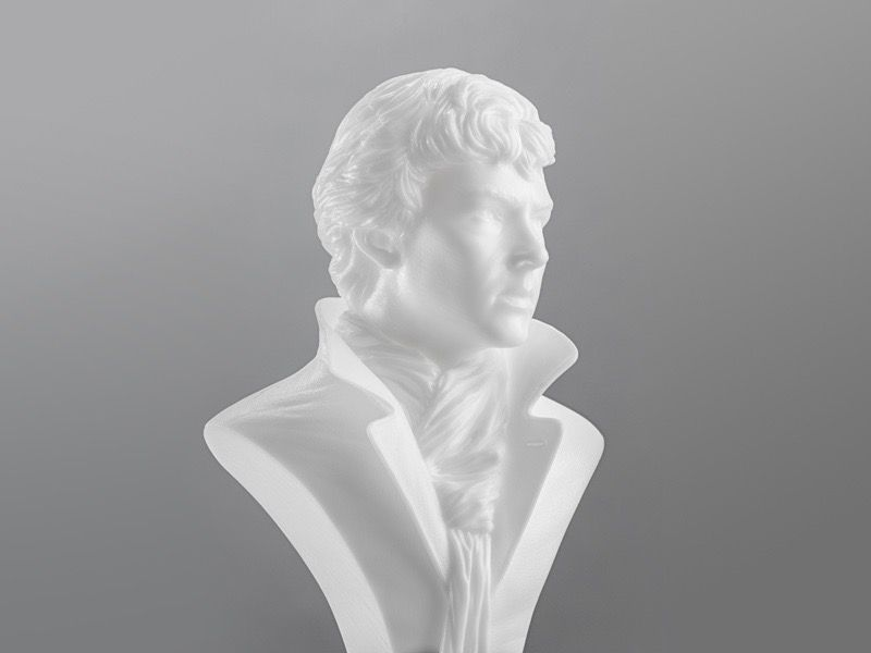 The finished hollow model printed with formlabs standard white resin