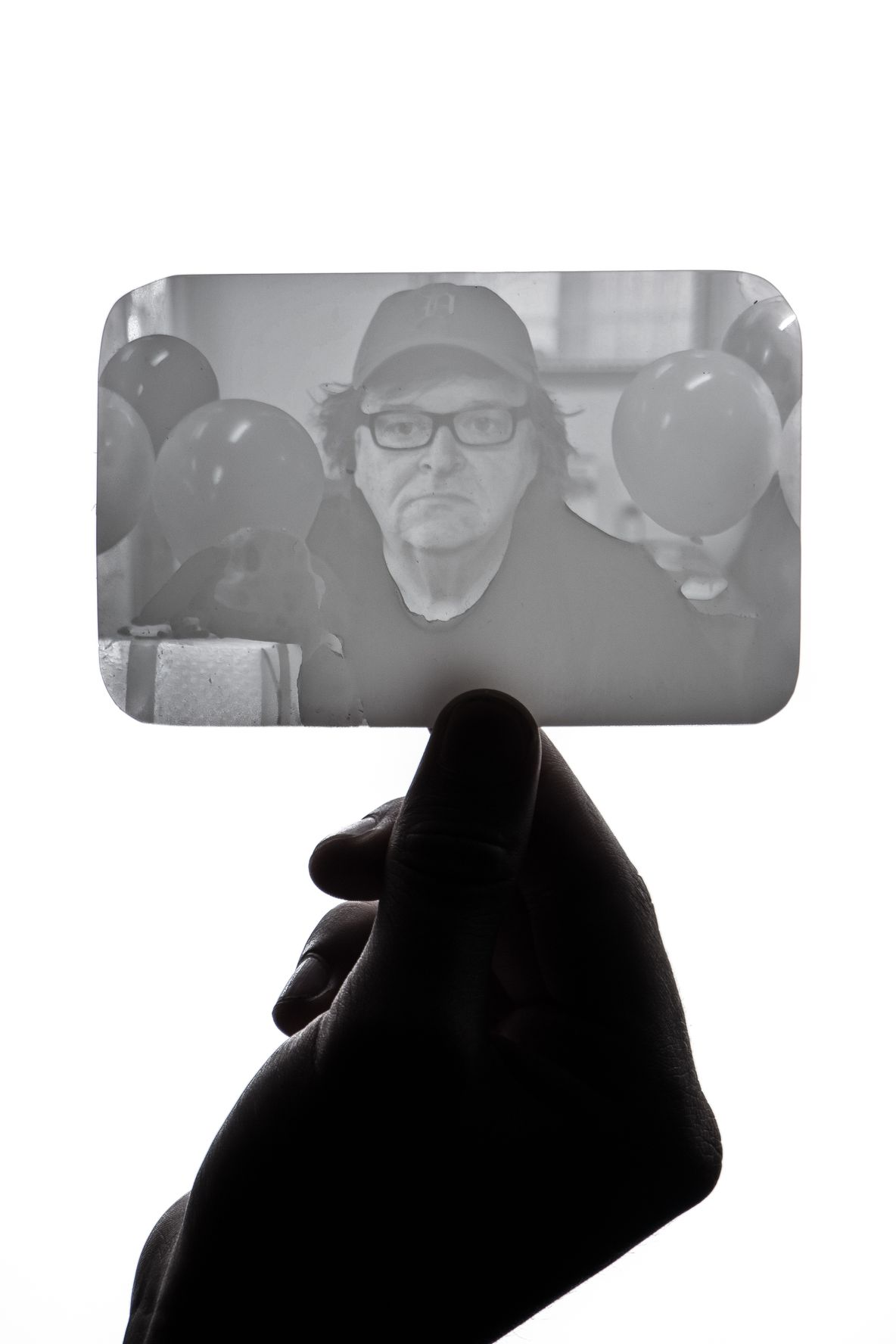Michael Moore Lithopane: This image was created in photoshop and then converted to a 3D model which was printed at 25 microns to create a lithopane. This is the highest resolution setting of the Form 1+ 3D Printer.