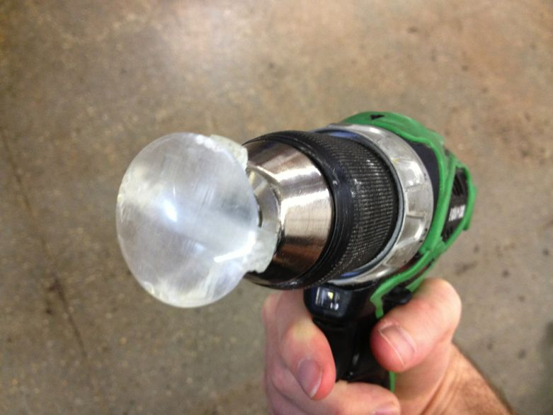 3D printing lens and drill coupler