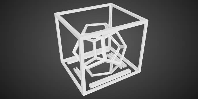 A 3D model of a dodecahedron