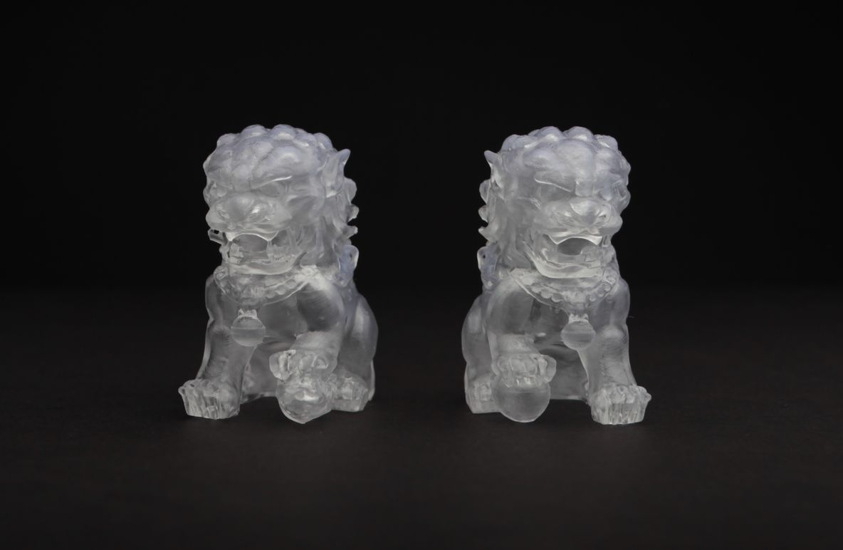 3D printed lions