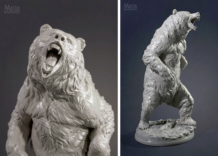 3D printed bear by user MattiaMercante