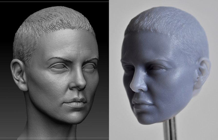 Finely detailed sculpts in ZBrush are rendered with precision by the Form 2.