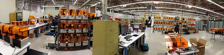 Panorama Formlabs factory